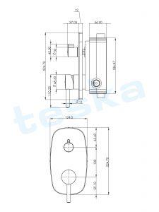 Tenedos Krom İki Yönlü Ankastre Banyo Bataryası AS2300