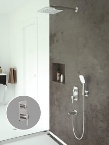 Agora Krom İki Yönlü Ankastre Banyo Bataryası Seti AS2301