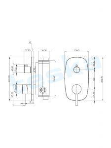 Sardes Krom İki Yönlü Ankastre Banyo Bataryası Seti AS2200