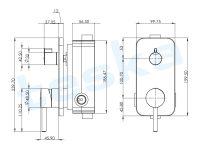 Alinda Krom İki Yönlü Ankastre Banyo Bataryası Seti AS2201