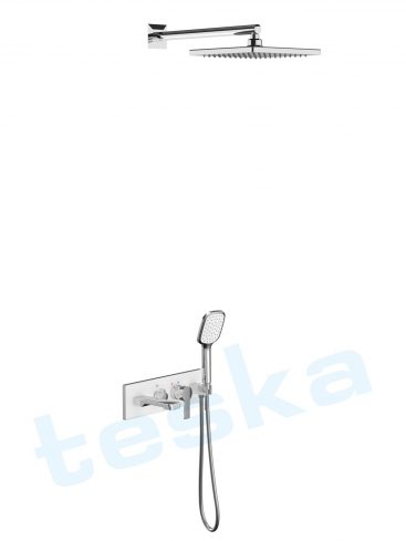Life Beyaz Camlı Üç Yönlü Yatay Ankastre Banyo Bataryası AS3100W