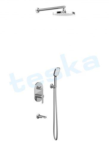 Amos Krom Üç Yönlü Oval Ankastre Banyo Bataryası AS3400