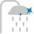 Slikon Su Çıkış Uçları - Tepe duşlarında esnek slikon uçlar sayesinde kolay temizlenebilen kireç tutmayan.